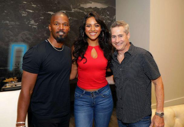 PHOTO: Jamie Foxx, Sela Vave and Adam Selkowitz attend Michael B. Jordan's MBJAM at Dave & Buster's Hollywood on July 27, 2019 in Hollywood, California. (Tiffany Rose/Getty Images)
