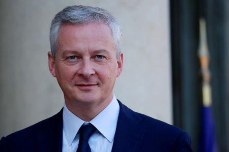 French Finance Minister Bruno Le Maire arrives to attend the weekly cabinet meeting at the Elysee Palace in Paris