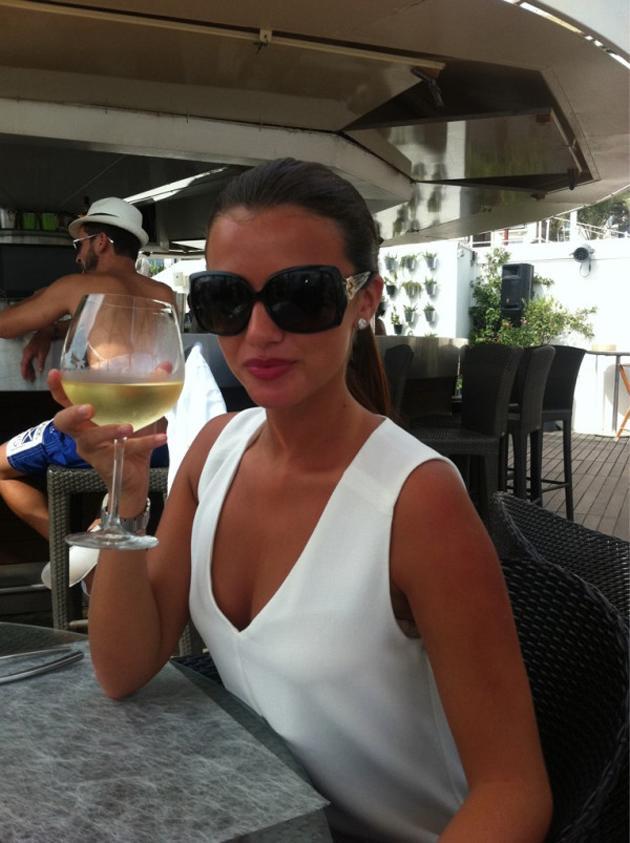 Celebrity photos: After celebrating her 21st birthday, TOWIE's Lucy Mecklenburgh was whisked off to Cannes by her fiancé Mario Falcone. She tweeted this picture of herself enjoying a drink in the sun – and made us seriously jel in the process.