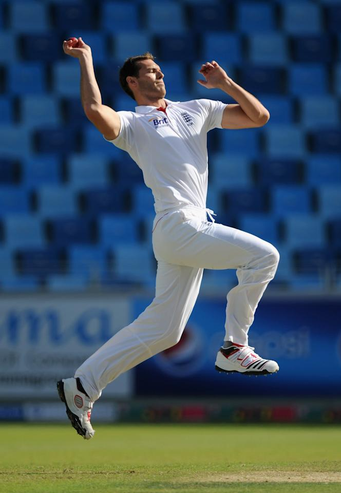 "Chris Tremlett, 6'7"": Part of the pack of big, strong fast bowlers that have catalysed England's Test resurgence, Chris Tremlett starred in the Ashes win in Australia claiming 17 scalps at 23.35 apiece. Able to extract bounce from most surfaces, he made his ODI debut in 2005, and played his first Test two years later. He featured in just three Tests before being injured and made a comeback into the team for England's famous 2010-11 away Ashes win. With seven First Class fifties, he is an able batsman at number eight or nine. Tremlett's career though has been beset injuries. A back injury ruled him out of three Tests against India in 2011. He played a Test in UAE against Pakistan and then sat out again when he required back surgery. Tremlett is confident of making a successful return to the international scene."