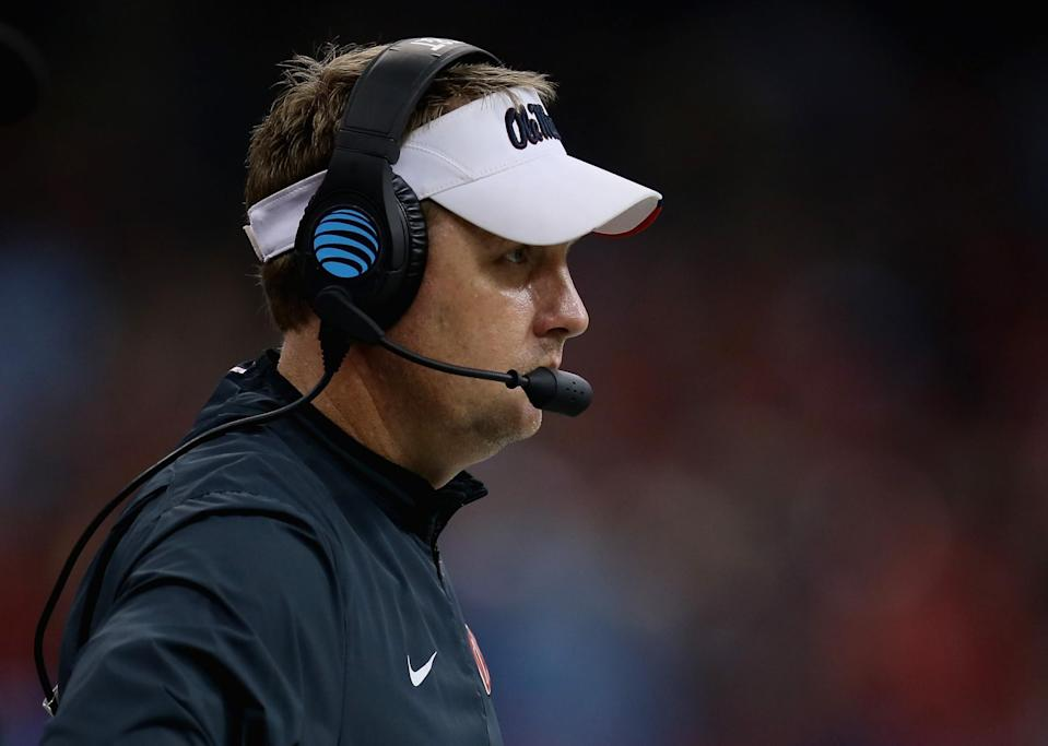 Hugh Freeze is 34-18 in four seasons as the Rebels' coach. (Getty)