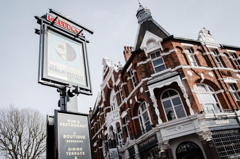 It's back: Well-loved Herne Hill pub Half Moon reopens after flooding three years ago: Fuller's