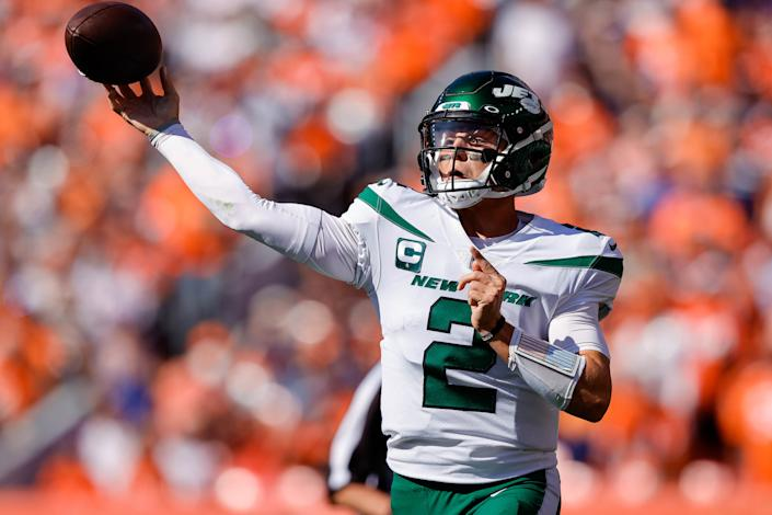 New York Jets quarterback Zach Wilson will face a depleted Falcons secondary in London. (Isaiah J. Downing/USA TODAY Sports)