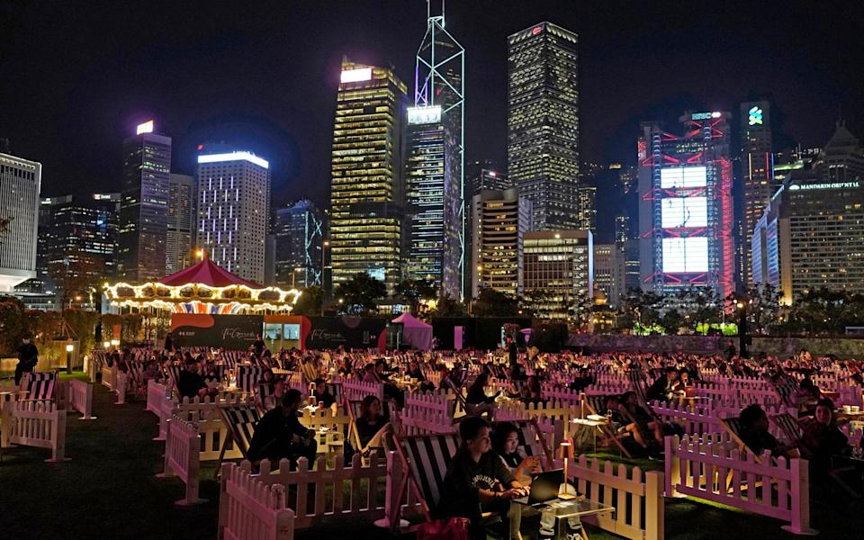 Hong Kong's first socially-distanced outdoor entertainment park opened its doors to the public as the events and entertainment industry adjusts to the coronavirus pandemic. - AP