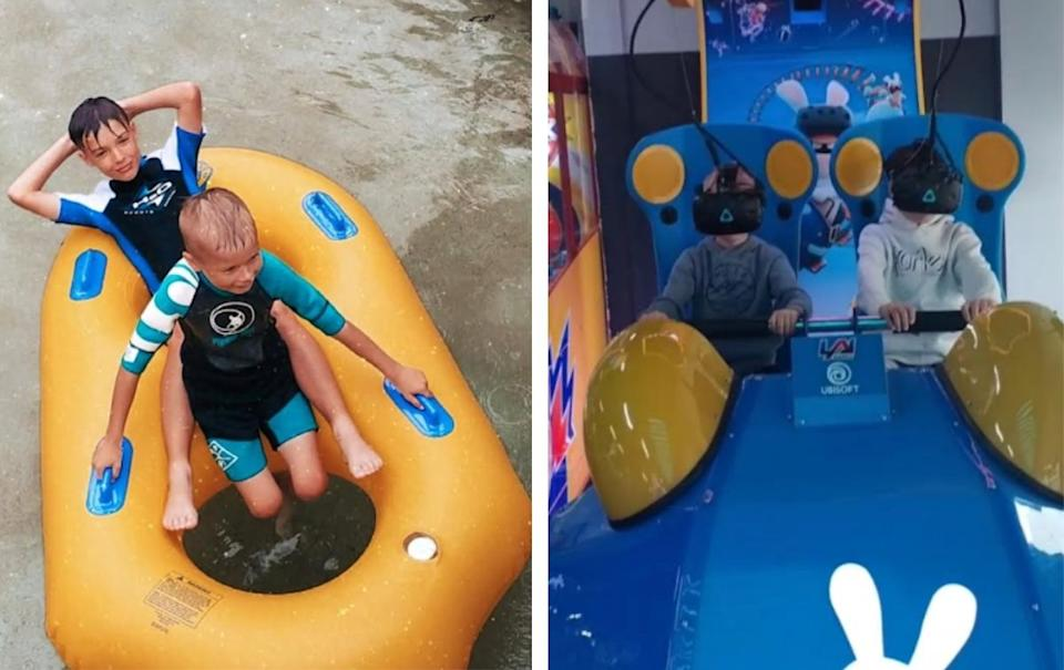 Photos of Flybuys winners sons on holiday. Source: Supplied/ Haylee Mackenzie