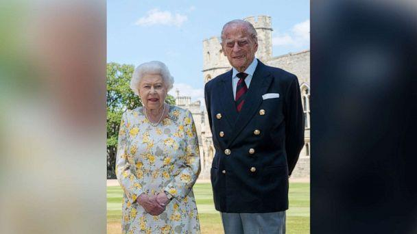 PHOTO: Queen Elizabeth II and the Duke of Edinburgh are pictured on Jan. 6, 2020, in the quadrangle of Windsor Castle in a photo released in June 2020 ahead of his 99th birthday. (Steve Parsons/PA Images via Getty Images, FILE)