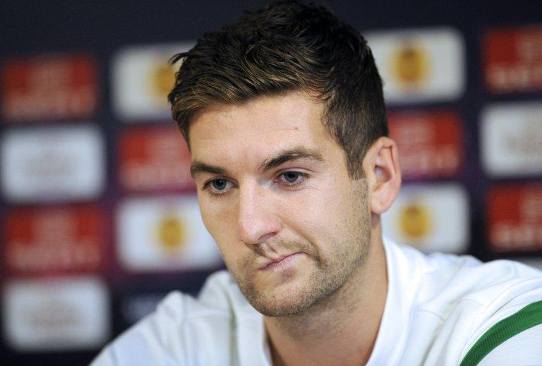 Celtic's Scottish midfielder, Charlie Mulgrew, pictured in Rennes, on October 19, 2011