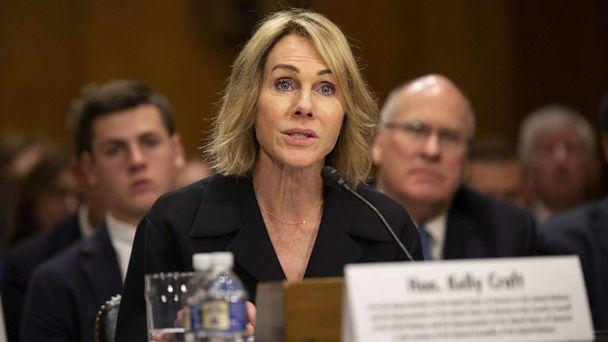 PHOTO: Kelly Craft, President Trump's nominee to be Representative to the United Nations, testifies at her nomination hearing before the Senate Foreign Relations Committee on June 19, 2019, in Washington. (Stefani Reynolds/Getty Images)