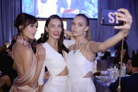 <p>Models Alessandra Ambrosio, Adriana Lima, and Josephine Skriver take a selfie at the 25th Annual Elton John AIDS Foundation's Academy Awards Viewing Party at The City of West Hollywood Park on February 26, 2017 in West Hollywood, California. (Photo by Dimitrios Kambouris/Getty Images for EJAF) </p>