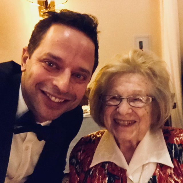 "<p>""#tbt this past weekend at my friends' wedding,"" the comedian wrote. ""I met DR. RUTH who has talked more openly, and for a longer time, about sex than anyone else. She's a pioneer and a total badass. She told everyone at the rehearsal dinner to try a new position that night."" (Photo: Nick Kroll via Instagram) </p>"