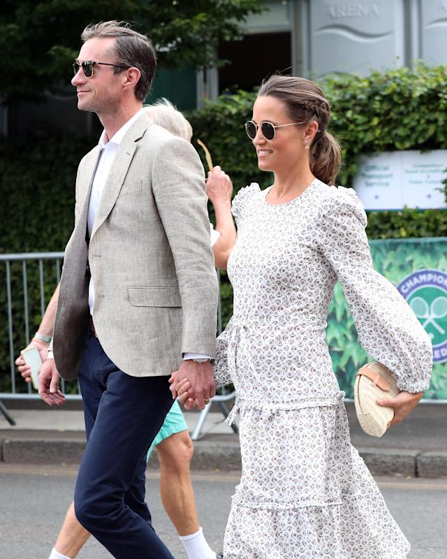 Middleton was joined by her husband, James Matthews. (Photo: Neil Mockford/GC Images)