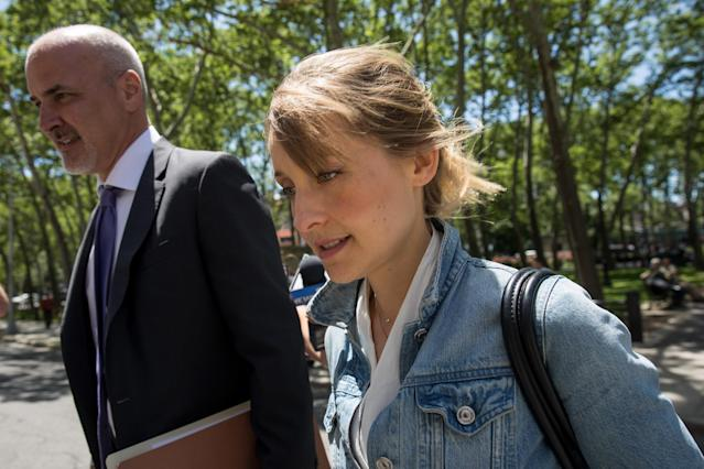 Allison Mack arrives at court for a status conference on June 12, 2018. (Photo: Drew Angerer/Getty Images)