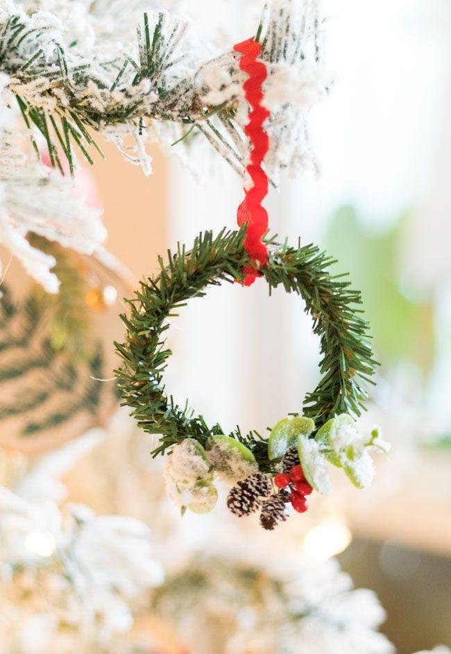 """<p>Before you toss any spare metal rings in the trash, consider this: They can easily be upcycled into pretty wreaths fit for your fir. </p><p><em>Get the tutorial at <a href=""""https://designimprovised.com/2019/12/make-the-cutest-mason-jar-lid-wreath-ornaments.html"""" rel=""""nofollow noopener"""" target=""""_blank"""" data-ylk=""""slk:Design Improvised"""" class=""""link rapid-noclick-resp"""">Design Improvised</a>.</em></p><p><a class=""""link rapid-noclick-resp"""" href=""""https://www.amazon.com/Regular-Replacement-Practical-Tinplate-Compatible/dp/B08CXQ1932?tag=syn-yahoo-20&ascsubtag=%5Bartid%7C10072.g.34443405%5Bsrc%7Cyahoo-us"""" rel=""""nofollow noopener"""" target=""""_blank"""" data-ylk=""""slk:SHOP MASON JAR RINGS"""">SHOP MASON JAR RINGS</a></p>"""