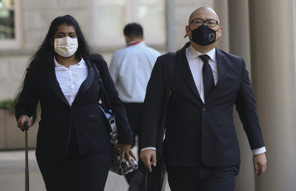 Terry Xu arriving at the Supreme Court on 30 November. (PHOTO: Yahoo News Singapore/Wee Teck Hian)