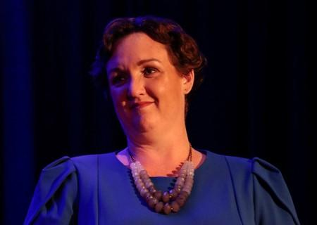 FILE PHOTO: Democratic congressional candidate Katie Porter waits to address her supporters at her midterm election night party in Irvine, California