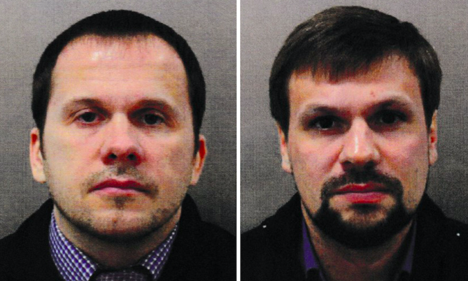<em>Petrov (left) and Boshirov were named as suspects in the poisoning by the Government (PA)</em>