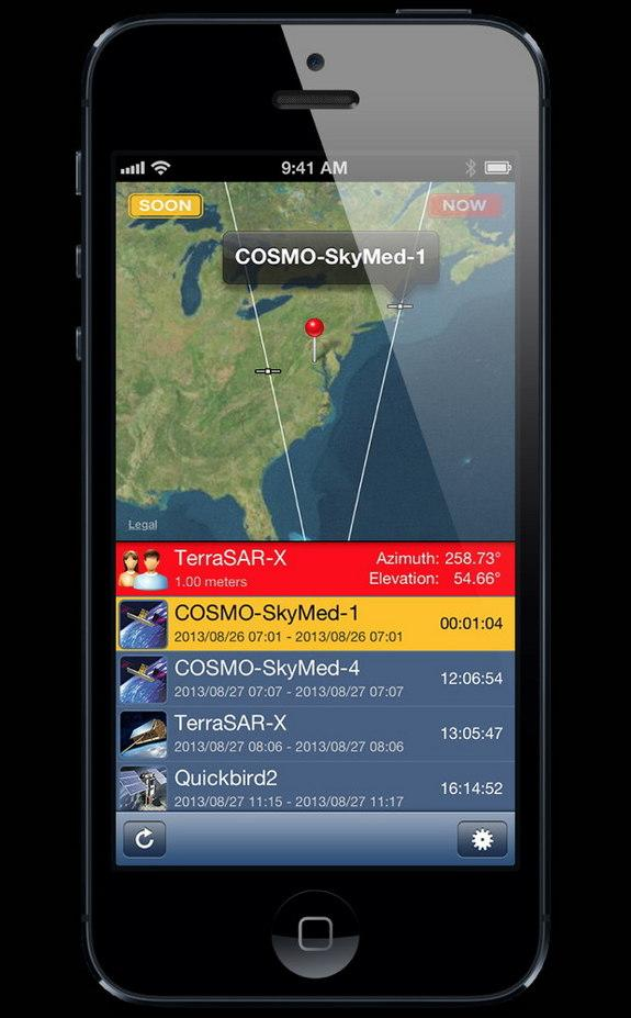 New iPhone App Lets You See Which Spy Satellites Are Watching You