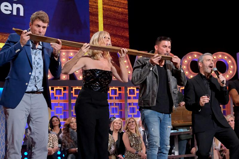Shep Rose, Vicki Gunvalson and Jax Taylor were three of the 76 Bravolebrities featured on BravoCon's WWHL. (Photo: Charles Sykes/Bravo/NBCU Photo Bank via Getty Images)