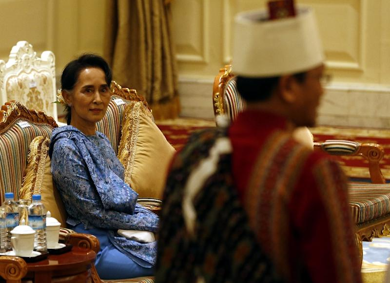 Myanmar Foreign Minister Aung San Suu Kyi pledged in a statement earlier this month to make releasing prisoners of conscience a priority of her administration (AFP Photo/Nyein Chan Naing)