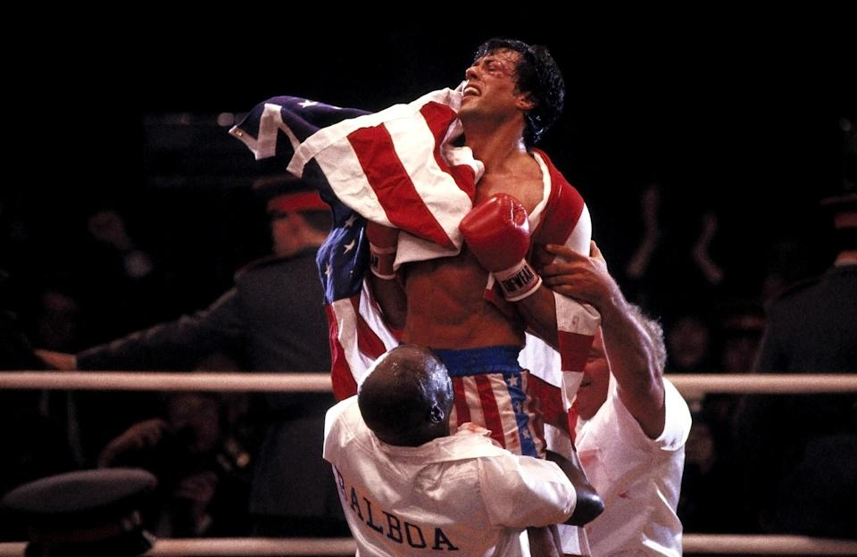 Rocky Balboa scores a victory for himself and America in <em>Rocky IV</em>. (Photo: United Artists/Courtesy Everett Collection)