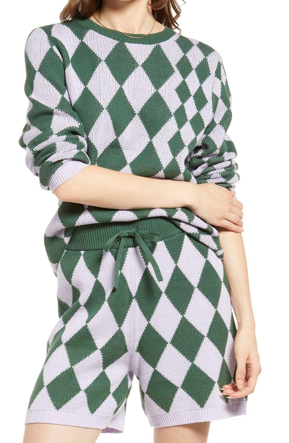 <p>How cool does this <span>Be Proud by BP. Argyle Sweater</span> ($49) look? It's designed to be comfy and look effortless, whether you pair it with the matching shorts or style it on its own.</p>