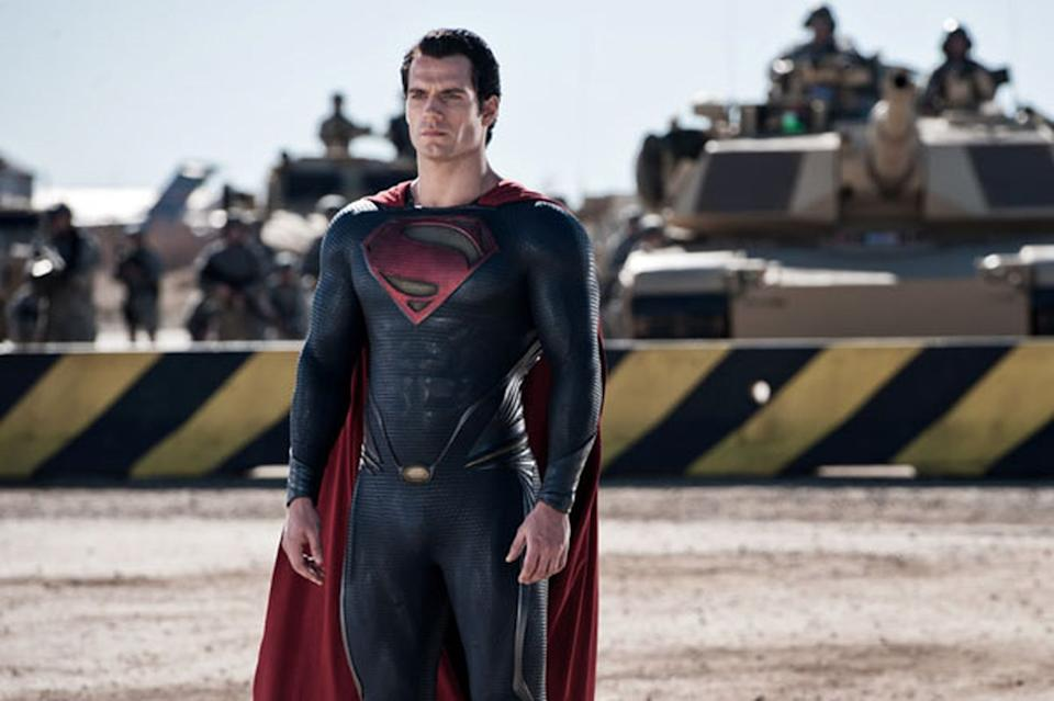 Henry Cavill in Man of Steel (Credit: Warner Bros)