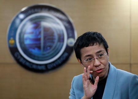 Rappler's CEO Maria Ressa is pictured inside the National Bureau of Investigation in Manila, Philippines, February 13, 2019. REUTERS/Eloisa Lopez