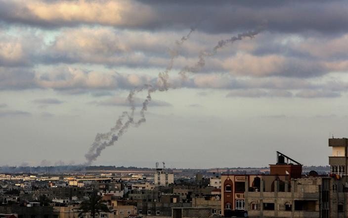 Smoke rises after Israeli army carried out attacks over buildings in Rafah, Gaza on May 18 - Anadolu