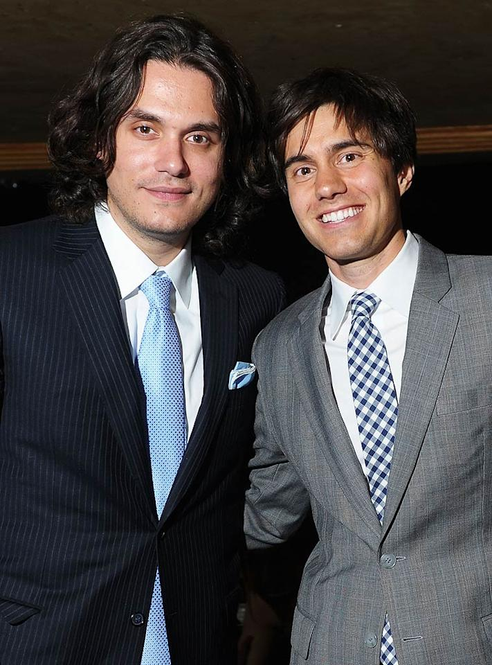 """John Mayer posed with one of the night's honorees, comedy site CollegeHumor.com co-founder Ricky Van Veen ... otherwise known as John's BFF. Michael Loccisano/<a href=""""http://www.gettyimages.com/"""" target=""""new"""">GettyImages.com</a> - June 13, 2011"""