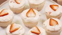 """<p>Drink your bubbly and eat it, too!</p><p>Get the recipe from <a href=""""https://www.delish.com/cooking/recipe-ideas/recipes/a46802/strawberry-mimosa-cupcakes-recipe/?visibilityoverride"""" rel=""""nofollow noopener"""" target=""""_blank"""" data-ylk=""""slk:Delish"""" class=""""link rapid-noclick-resp"""">Delish</a>.</p>"""