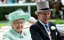 <p>Ready for a day at the races, they arrive by carriage on Ladies Day of Royal Ascot on June 21, 2012. </p>