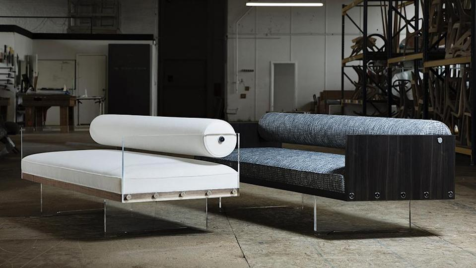 The Roll Back sofa, which Kagan originally designed in the 1960s. - Credit: Steve Bensity