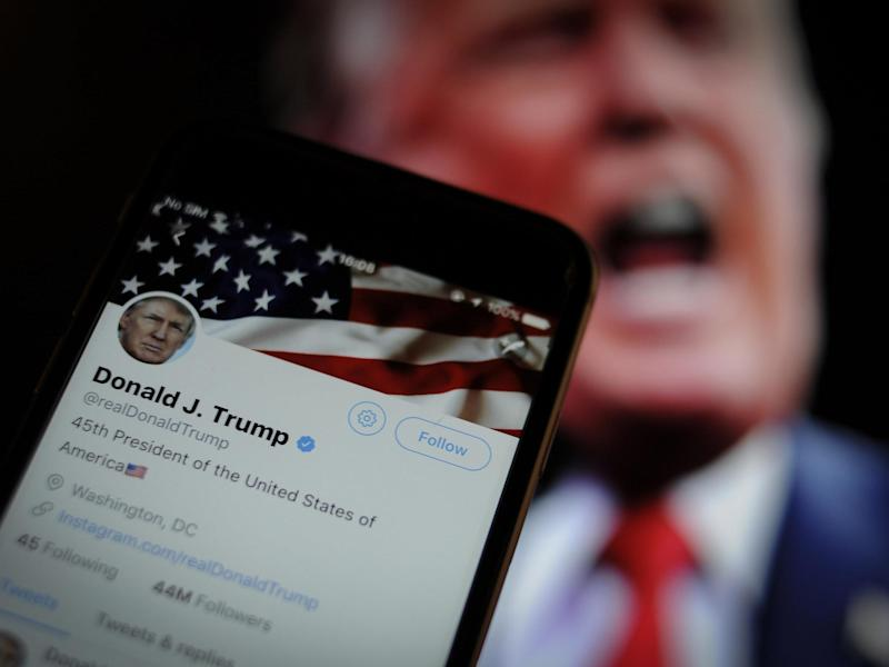 The president has become famed for firing off rambling, inflammatory tweets to his 52 million followers in the early hours which include misspellings, typos and other linguistic errors: Getty
