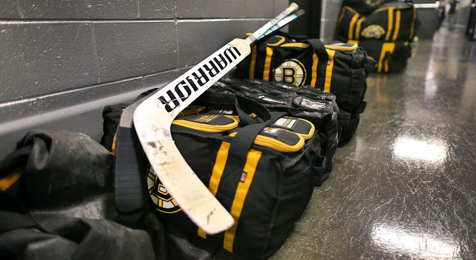 The Boston Bruins packed up their gear on Friday. (Getty)