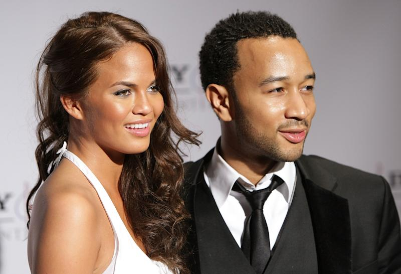 Chrissy Teigen y John Legend. (Foto: Alberto E. Rodriguez / Getty Images)