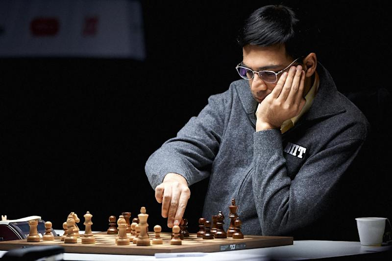 World chess champion  Viswananthan Anand during the last round of the tournament in Stavanger Norway, Saturday may 18, 2013 (AP Photo/Kent Skibstad / NTB scanpix) NORWAY OUT
