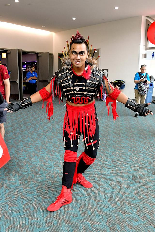 <p>Cosplayer dressed as Rufio at Comic-Con International on July 21, 2018, in San Diego. (Photo: Dia Dipasupil/Getty Images) </p>