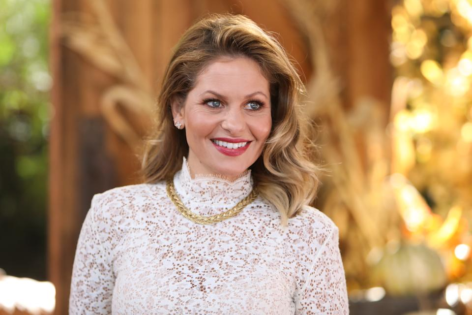 UNIVERSAL CITY, CALIFORNIA - OCTOBER 21: Actress Candace Cameron Bure visits Hallmark Channel's
