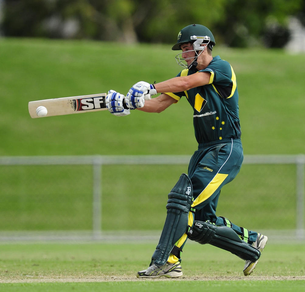 TOWNSVILLE, AUSTRALIA - APRIL 15:  Meyrick Buchanan of Australia bats during the match between Australia and India on day five of the U19 International Quad Series at Tony Ireland Stadium on April 15, 2012 in Townsville, Australia.  (Photo by Ian Hitchcock/Getty Images)