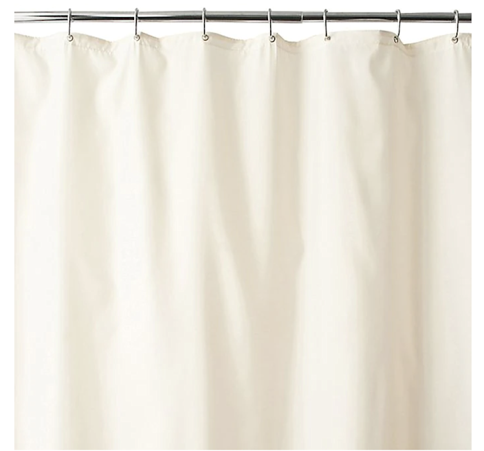 """Another oldie but goodie on the list of products you loved? <a href=""""https://www.architecturaldigest.com/story/washable-shower-curtain-liners?mbid=synd_yahoo_rss"""" rel=""""nofollow noopener"""" target=""""_blank"""" data-ylk=""""slk:Washable shower curtain liners"""" class=""""link rapid-noclick-resp"""">Washable shower curtain liners</a>. Both practical and helpful in eliminating <a href=""""https://www.architecturaldigest.com/story/single-use-plastic-covid-19-safety?mbid=synd_yahoo_rss"""" rel=""""nofollow noopener"""" target=""""_blank"""" data-ylk=""""slk:plastic"""" class=""""link rapid-noclick-resp"""">plastic</a> from household routines, these made-to-last fabric liners mean you don't have to throw away yet another plastic liner when mold creeps in. We're all about a win for your wallet and the environment. $13, Bed Bath & Beyond. <a href=""""https://www.bedbathandbeyond.com/store/product/wamsutta-reg-fabric-shower-curtain-liner-with-suction-cups/3318383"""" rel=""""nofollow noopener"""" target=""""_blank"""" data-ylk=""""slk:Get it now!"""" class=""""link rapid-noclick-resp"""">Get it now!</a>"""
