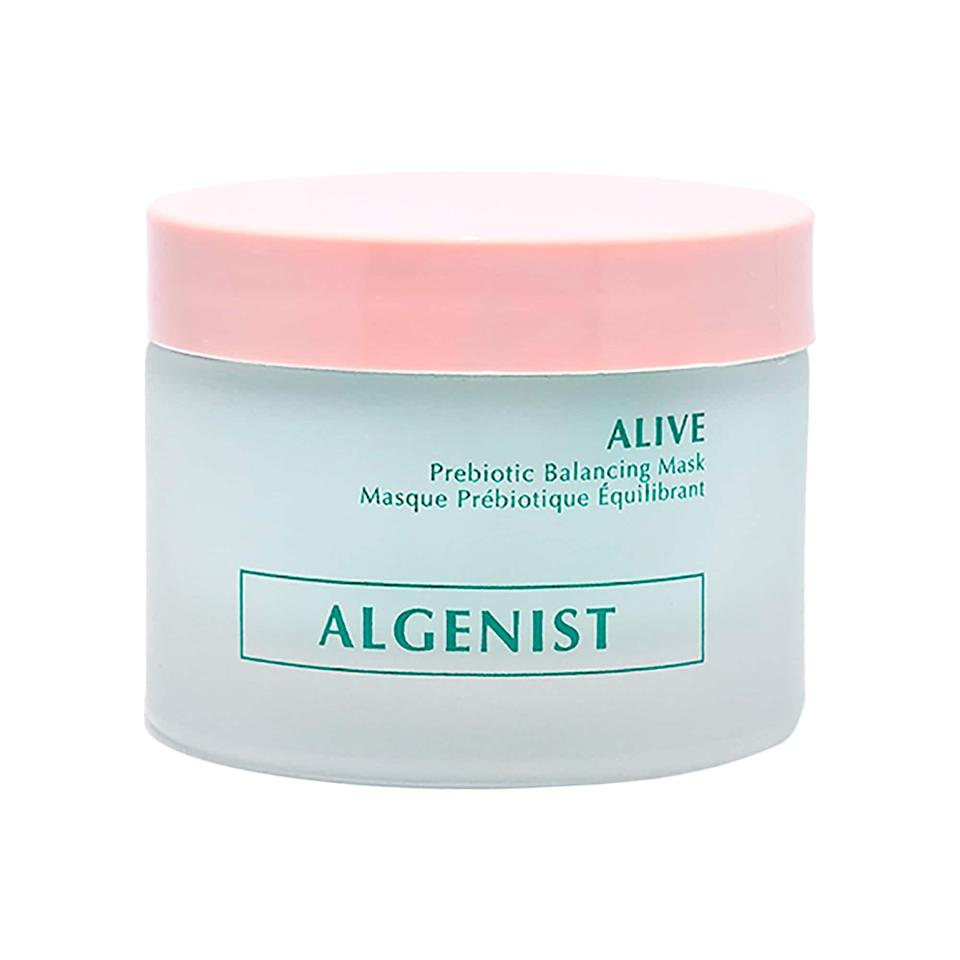 "<p>This top-rated <a href=""https://www.popsugar.com/buy/Algenist-Alive-Prebiotic-Balancing-Mask-586779?p_name=Algenist%20Alive%20Prebiotic%20Balancing%20Mask&retailer=sephora.com&pid=586779&price=27&evar1=bella%3Aus&evar9=47589683&evar98=https%3A%2F%2Fwww.popsugar.com%2Fbeauty%2Fphoto-gallery%2F47589683%2Fimage%2F47594208%2FAlgenist-Alive-Prebiotic-Balancing-Mask&prop13=mobile&pdata=1"" class=""link rapid-noclick-resp"" rel=""nofollow noopener"" target=""_blank"" data-ylk=""slk:Algenist Alive Prebiotic Balancing Mask"">Algenist Alive Prebiotic Balancing Mask</a> ($27, originally $38) packs in vegan prebiotics and probiotics to balance and detoxify skin (and changes colors as it works).</p>"