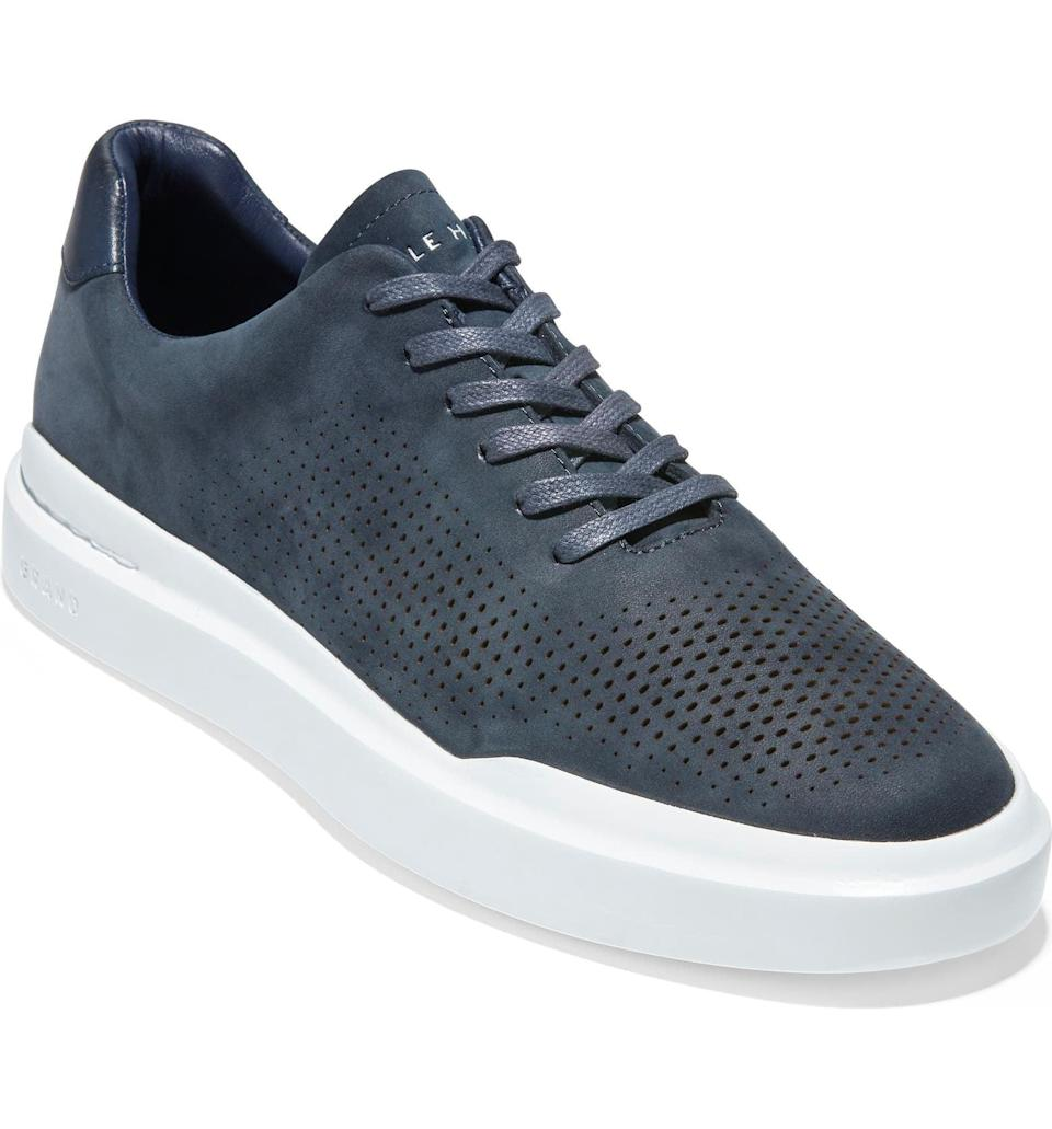 <p>His outfits will thank you when he introduces them to these spiffy <span>Cole Haan GrandPro Rally Sneakers</span> ($75, originally $150).</p>