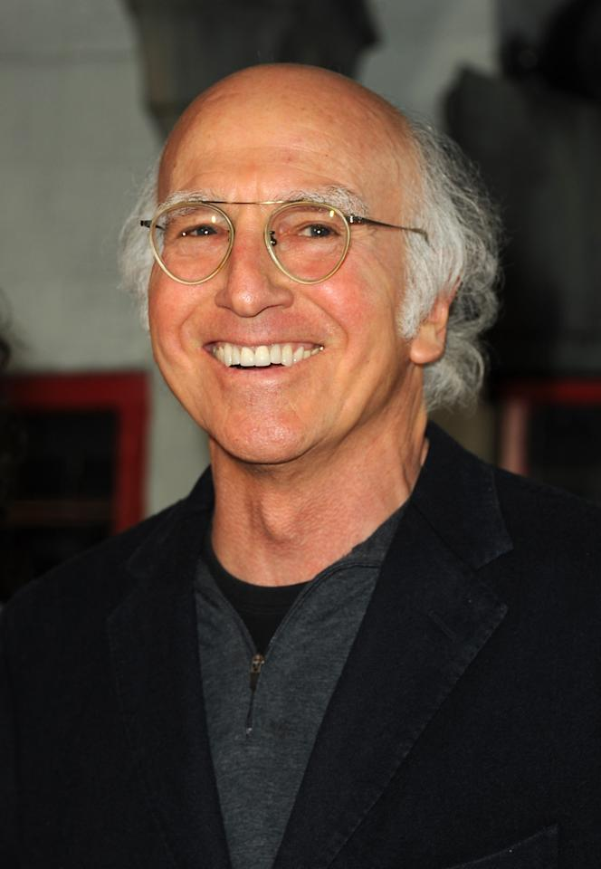 "HOLLYWOOD, CA - JANUARY 23: Writer/director/actor Larry David attends the premiere of Relativity Media's ""Movie 43"" at TCL Chinese Theatre on January 23, 2013 in Hollywood, California.  (Photo by Kevin Winter/Getty Images)"