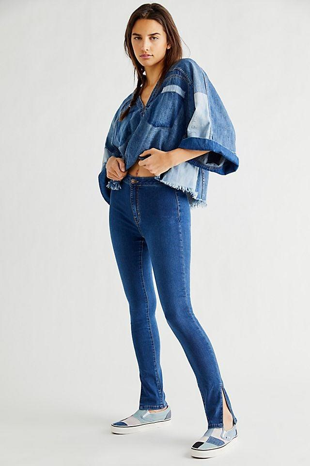 """<strong><h2>Free People Riley Slit Skinny Jeans</h2></strong><br><strong><em>The Fashion Person Pick</em></strong><br><br>While the high-rise, button-front silhouette of these slim-fitting jeans makes them timeless, the ankle slit makes them totally on-trend right now — perfect for shoppers looking to amp up the fashion in an otherwise classic look.<br><br><strong>The Hype: </strong>4.9 out of 5 stars; 9 reviews on FreePeople.com <br><br><strong>What They're Saying</strong>: """"LOVE LOVE LOVE: Absolute best jeans I've ever purchased. So stretchy and flattering! I bought the black and just ordered the blue denim too. So comfortable and love the side slit. I sized down one size and they're still so roomy probably could have gone down two sizes!"""" — kaylamckeown, FreePeople.com reviewer<br><em><br>Shop </em><strong><em><a href=""""https://www.freepeople.com/shop/riley-slit-skinny-jeans/"""" rel=""""nofollow noopener"""" target=""""_blank"""" data-ylk=""""slk:FreePeople.com"""" class=""""link rapid-noclick-resp"""">FreePeople.com</a></em></strong><br><br><strong>Free People</strong> Riley Slit Skinny Jeans, $, available at <a href=""""https://go.skimresources.com/?id=30283X879131&url=https%3A%2F%2Fwww.freepeople.com%2Fshop%2Friley-slit-skinny-jeans%2F%3Fcategory%3Dhigh-rise-jeans%26color%3D047%26type%3DREGULAR"""" rel=""""nofollow noopener"""" target=""""_blank"""" data-ylk=""""slk:Free People"""" class=""""link rapid-noclick-resp"""">Free People</a>"""