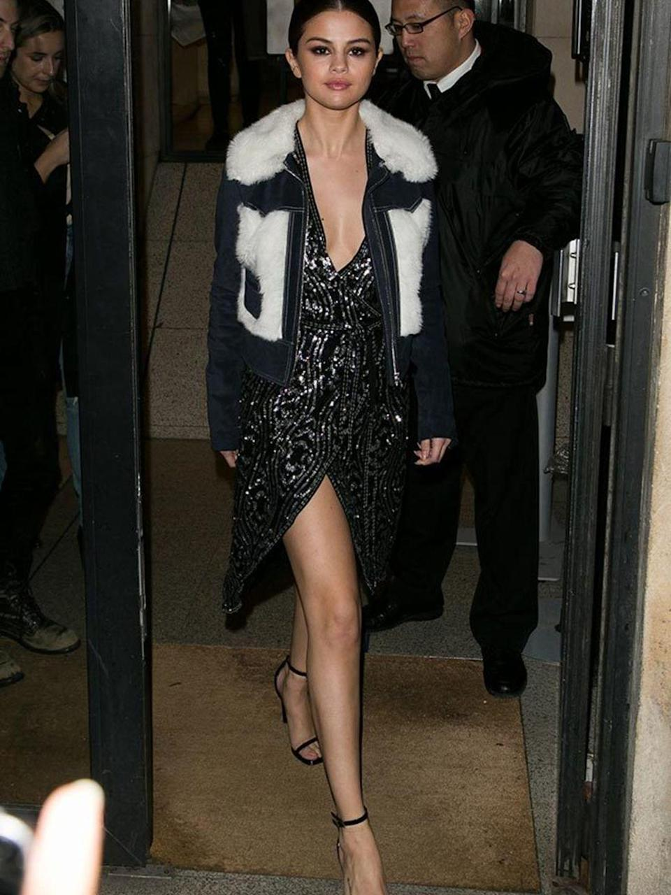 <p>Selena Gomez wearing Rodarte x & Other Stories whilst out and about in Paris, March 2016.</p>