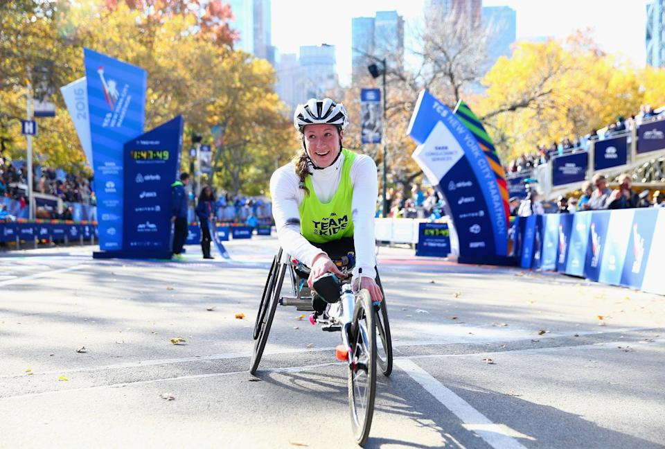 She's the First Athlete Ever to Win a Marathon Grand Slam