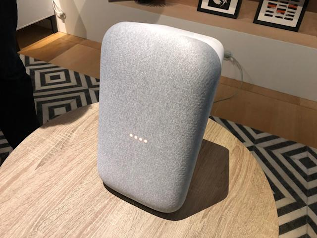 The Home Max can rest on its side or base depending on how you'd like it to fit in your home.