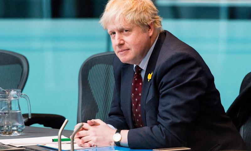 Boris Johnson appears before the London assembly earlier this month to answer questions on the garden bridge project