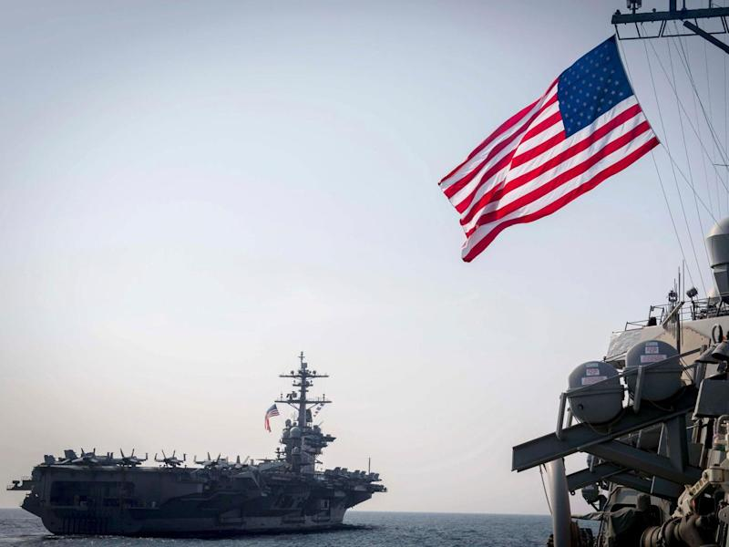 The strike force, led by the USS Carl Vinson, is heading for the Korean peninsular (AFP)