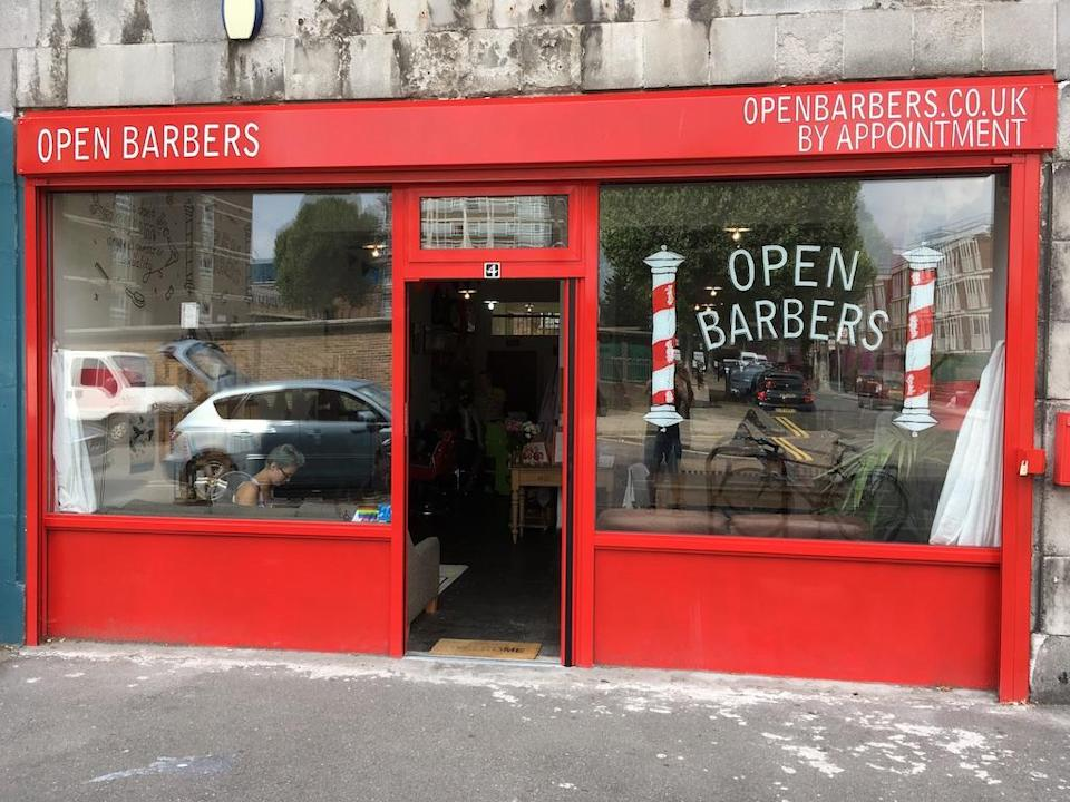 The Open Barbers shop front. (Open Barbers)